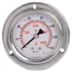 Back Connection Tufit Pressure Gauge