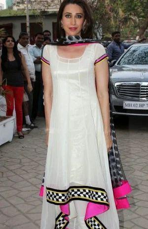 6162305c469 Karisma Kapoor Georgette Bollywood Replica Salwar Suit - Indian ...