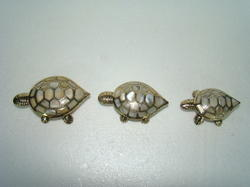 Brass MOP Tortoise Trinket Box