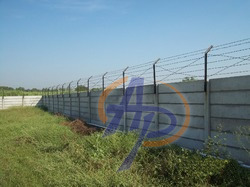 RCC Precast Boundary Wall with Fencing