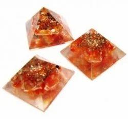 Carnelian Orgone Energy Pyramid For Orgone Healing - Anshul Impex