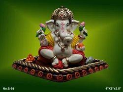 Multicolor Glossy Finish Fibre Ganesh Statue, Table, Temple, For Home Decor