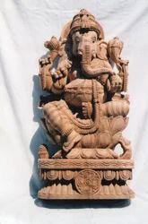 Wooden Ganesha KA