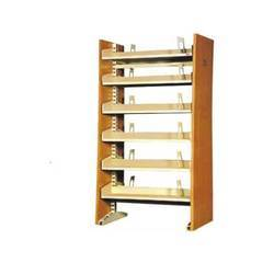 Wooden Library Book Rack