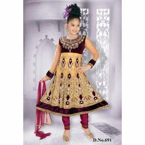 424a4576236d ... Dresses   Kids Anarkali Suits. Girls Ethnic Anarkali Suit