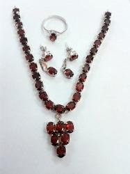 Rhodium Designer Necklace Set