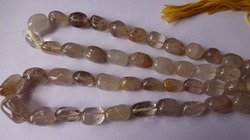 Golden Rutile Smooth Tumbled Shape