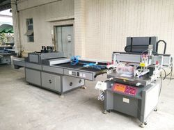 3 4  Screen Printing With Lifter And Uv Drier