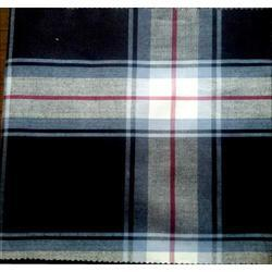 Western Indigo Yarn Dyed Checks Fabric