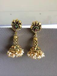Cut Work Antique Earrings