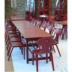 Fast Food Wooden Restaurant Tables