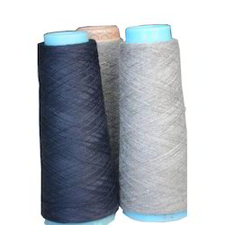 Blue and Grey Worsted Spun Yarn for Weaving