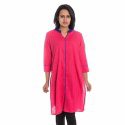 Designer Pink Full Sleeves Kurti