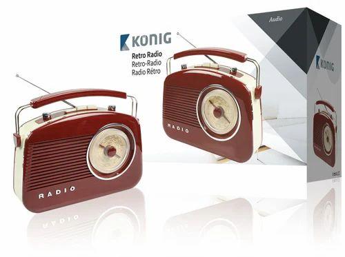 brown retro design radio at rs 6250 no s portable. Black Bedroom Furniture Sets. Home Design Ideas