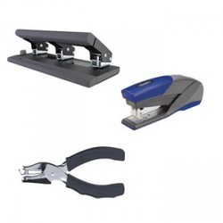 Plastic Staplers and Hole Punches