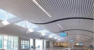 Curved Metal Ceiling धातु की छत Harsons Amp Associates