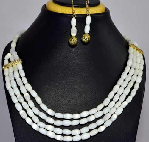 c3b8c444e677f9 Monalisha milky- white stone fashion necklace - Indian Best ...
