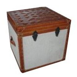 Leather Trunk Cum End Table