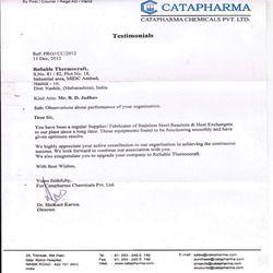 Testimonial Certificate