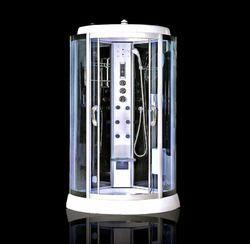 D-Shaped Fiberglass Steam Shower Room