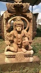 Wooden Anajaneyar Swamy