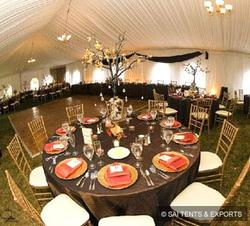 Polyester Printed Wedding Tents, Capacity: Greater than 10