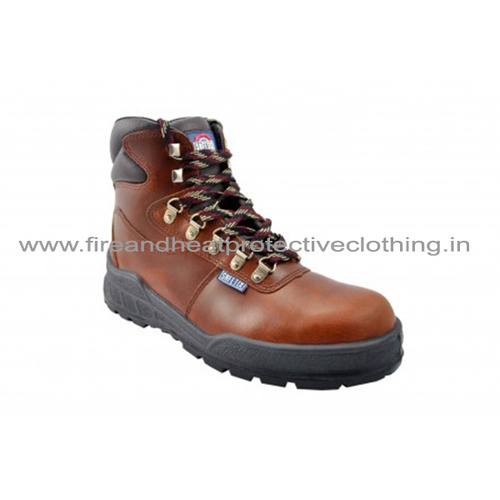 Trainix Brown Safety Shoes