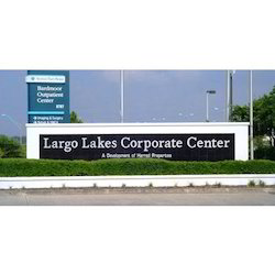 Aluminum Corporate Signage, Shape: Rectangle