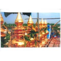 Gold Plated Gopura Kalasams