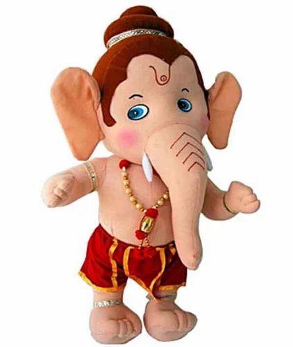 cute little lord ganesha soft toy 2 naram khilauna shoppers day
