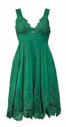 Green Floral Design Dress