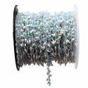 Blue Chalcedony Pearl Gemstone Dangle Chain