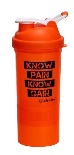 Orange Plastic I Shake Matrix Shaker Bottle, Capacity: 500 Ml