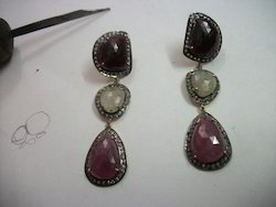 Multi Sapphire Earrings