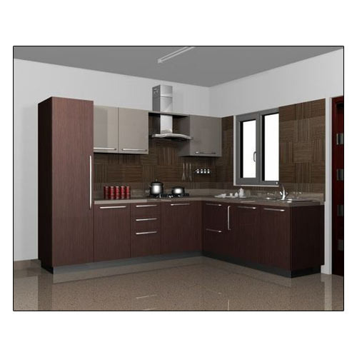 Indian Kitchens Modular Kitchens: L Shaped Modular Kitchen