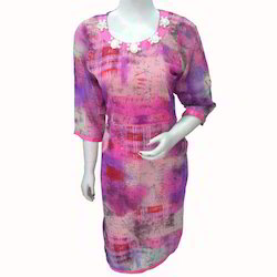Pink Purple Combination Kurti