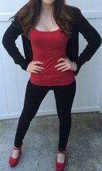 Black And Red Yoga Wear