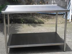 Stainless Steel Kitchen Table, For Hotel
