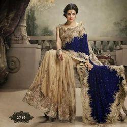 Velvet with Net Half Saree