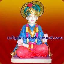 Marble Idols Swaminarayan Statue