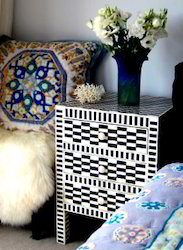 Bone Inlay Bedside Furniture