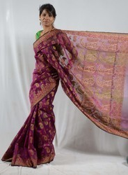 Kota Doria Full Zari Saree