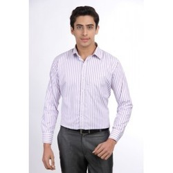 Formal Stripped Purple Shirt