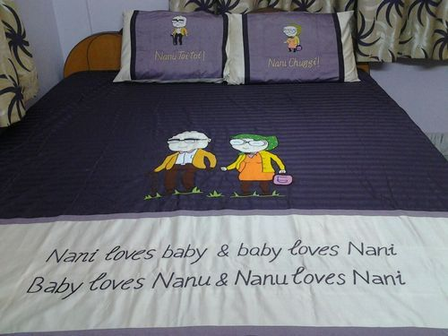Personalized Embroidered Bed Sheet