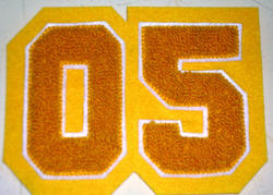 2 Digit Chenille Patch