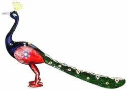 Metal Meenakari Peacock