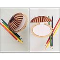 Shell Shaped Paper Holder With 100 Paper Chits