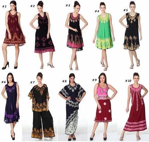 Batik Tye Dye Dress, Ladies Dresses, Apparels & Clothings