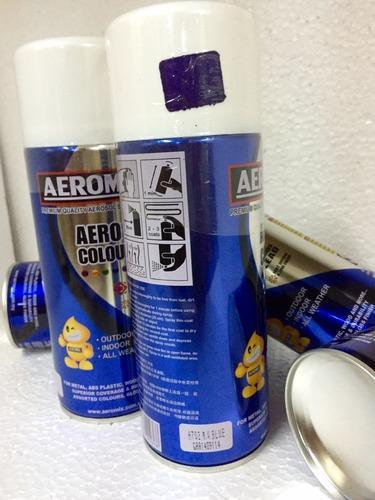Aeromix Metallic Ocean Blue Color Aerosol Spray Paints For Decorative Craft