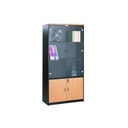 Aluminum Standard Wooden Filing Cabinet With Glass Doors, For Office